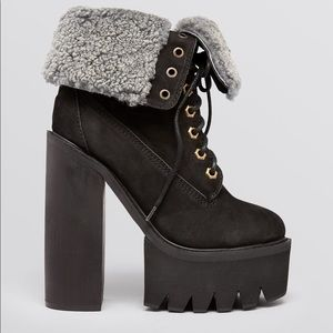 Jeffrey Cambell In Charge Boots Black Suede